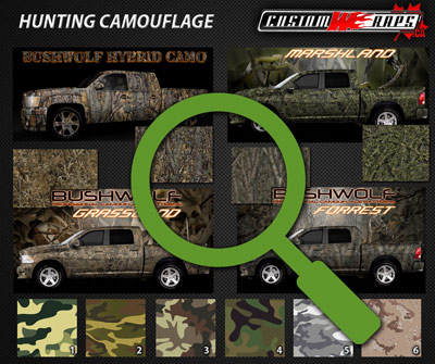 click to view available camouflage wrap patterns