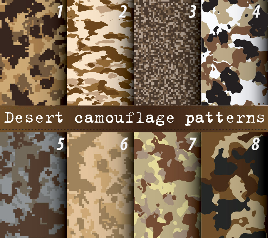 Desert camouflage wrap patterns