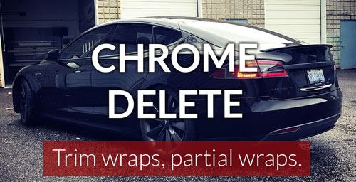Chrome delete wrap Toronto