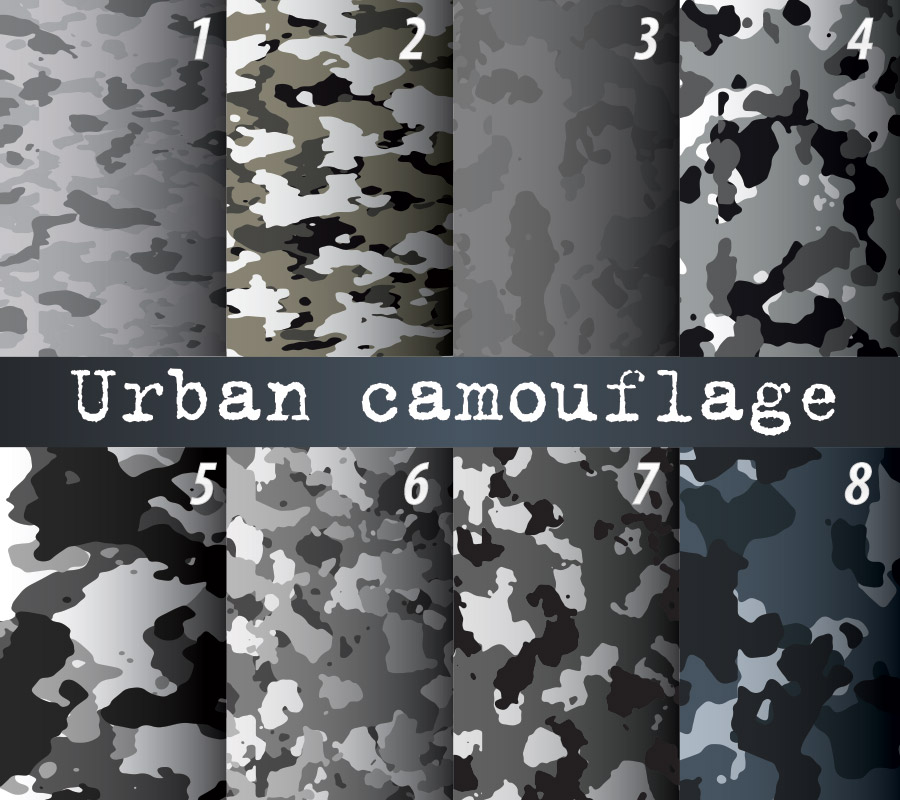 Urban camo wrap patterns